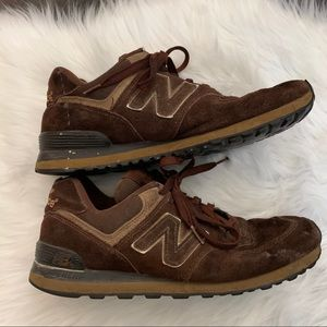 New Balance 574 Encap Brown Suede Sneakers Size 10